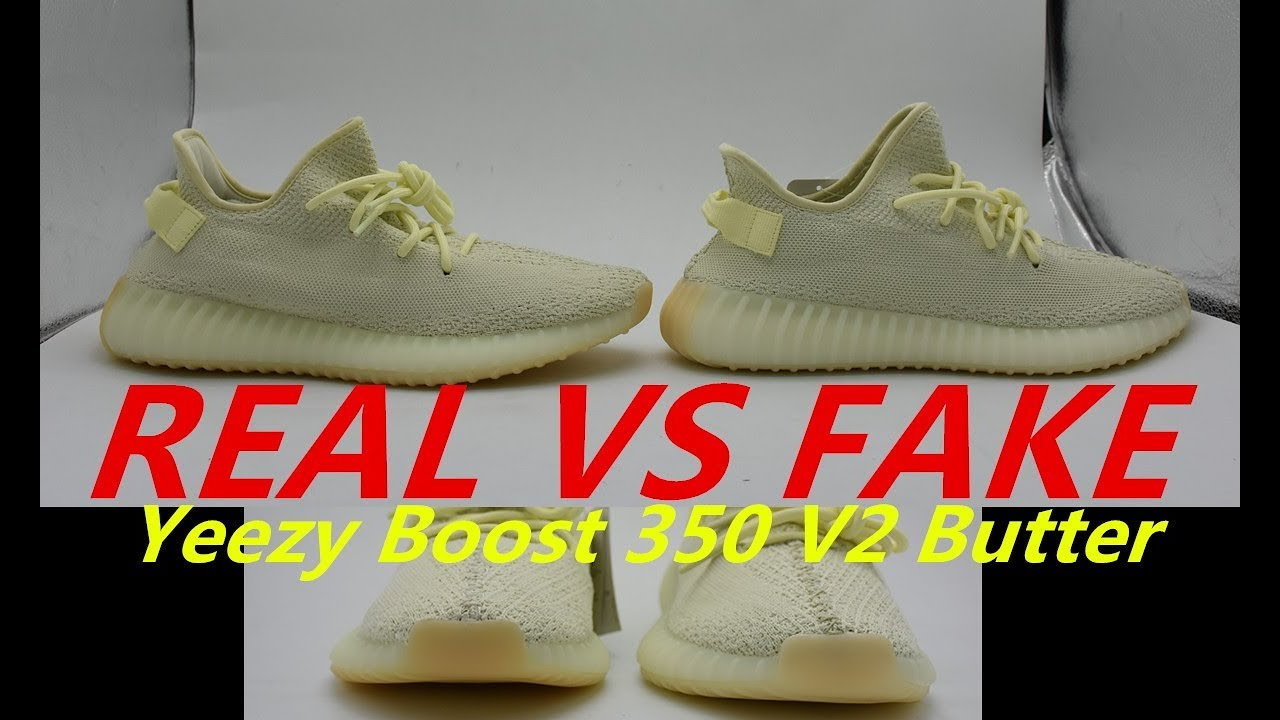 best service 620dd 0b48b REAL VS FAKE YEEZY BUTTER CHECK BEFORE YOU BUY!!