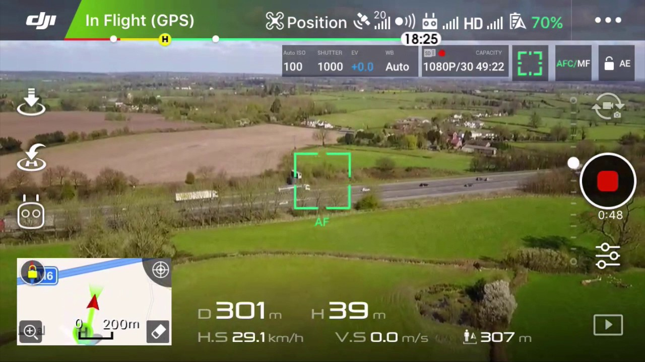 DJI Mavic Pro First Flight - DJI Go 4 app View - YouTube