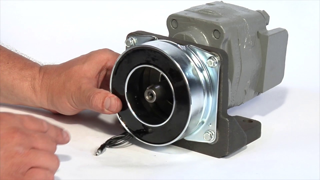 electric clutch installation for small hydraulic pumps [ 1280 x 720 Pixel ]