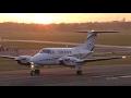 Beech B200 King Air G-PCOP - Beautiful sunset departure - Gloucestershire Airport