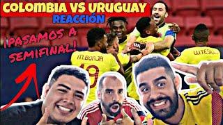 MEJOR REACCIÓN COLOMBIA vs URUGUAY  *tanda de penales* ¡FUEGO SAGRADO COLOMBIANO! 🇨🇴❤️