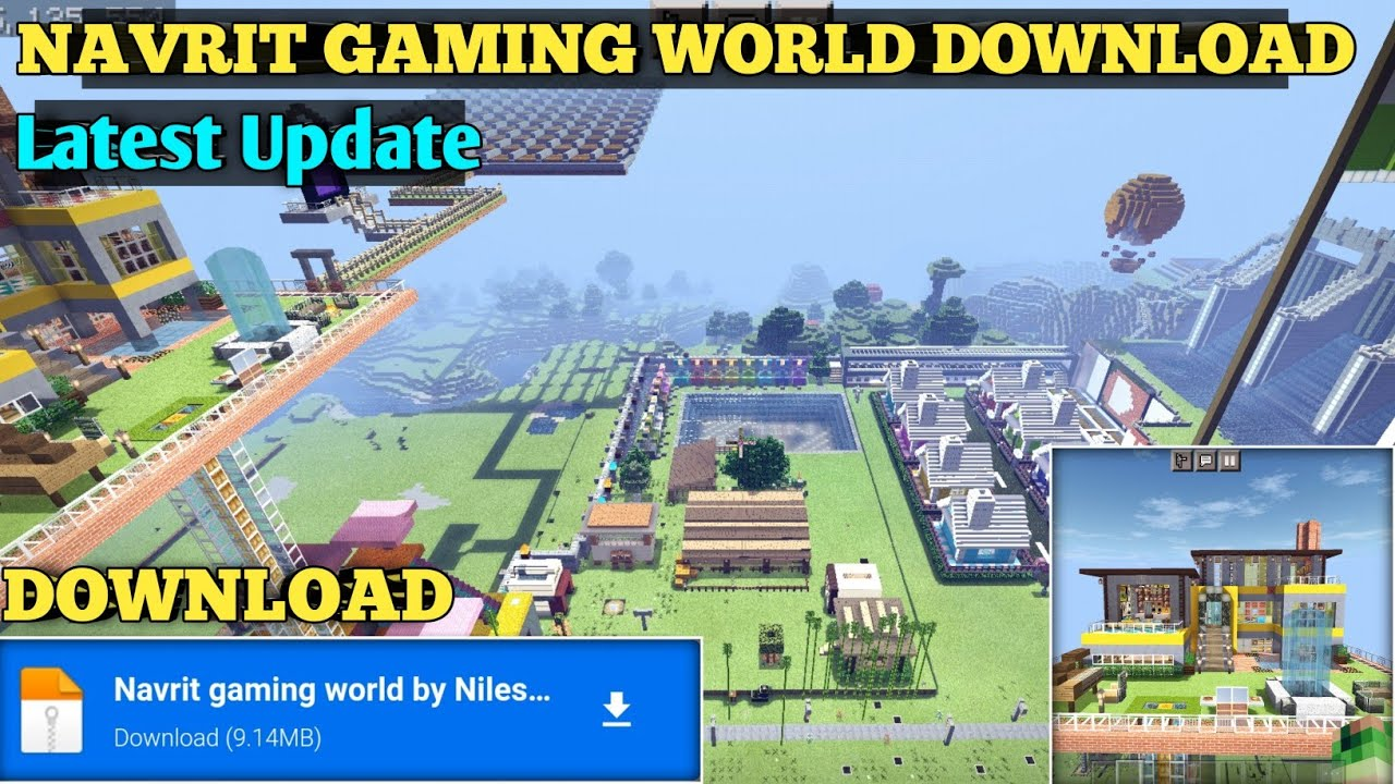 How to download Navrit Gaming complete minecraft world on minecraft pocket edition | 100%working