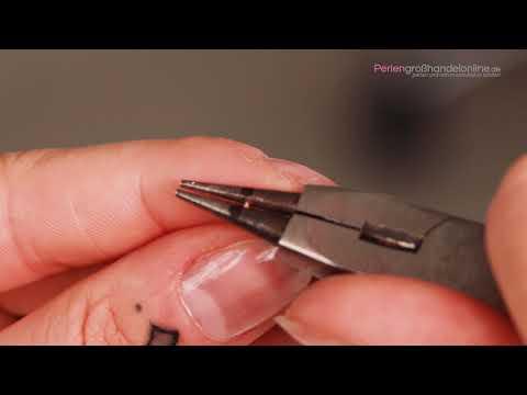 Basistechnik für Schmuck: Fertigen Sie aus einer Perle einen Anhänger oder Hänger