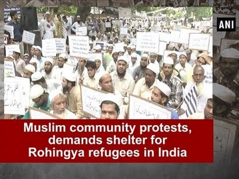 Muslim community protests, demands shelter for Rohingya refugees in India - Delhi News