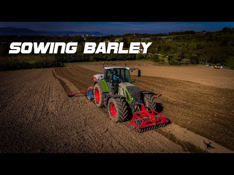 Sowing Spring Barley With Fendt 724 - Porter Contracts March 2017