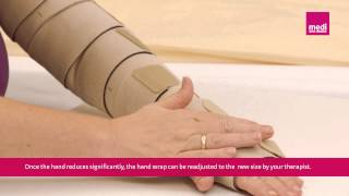 circaid reduction kit hand wrap patient donning