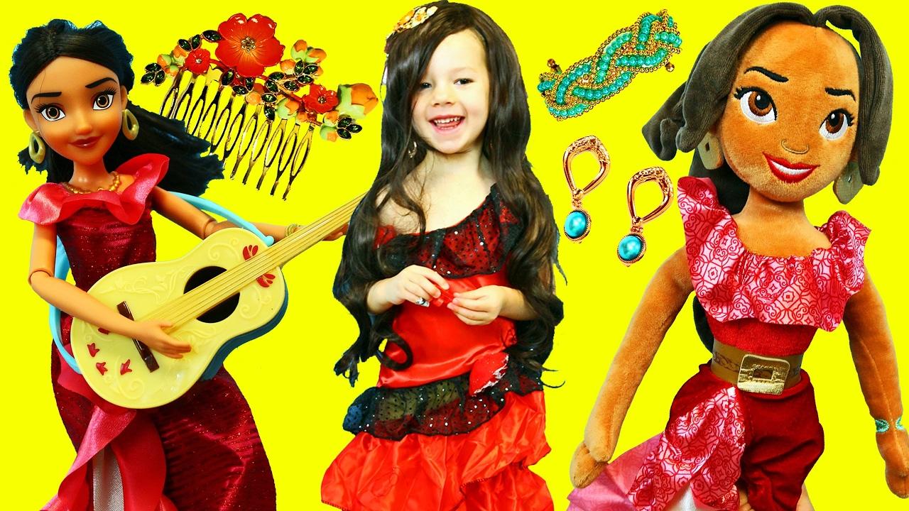 Dress up princess doll - Elena Of Avalor Dress Up Makeover Irl New Disney Princess Doll Costume Jewelry Disneycartoys