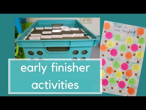 Setting Up My Early Finisher Station | Secondary Social Studies Activities