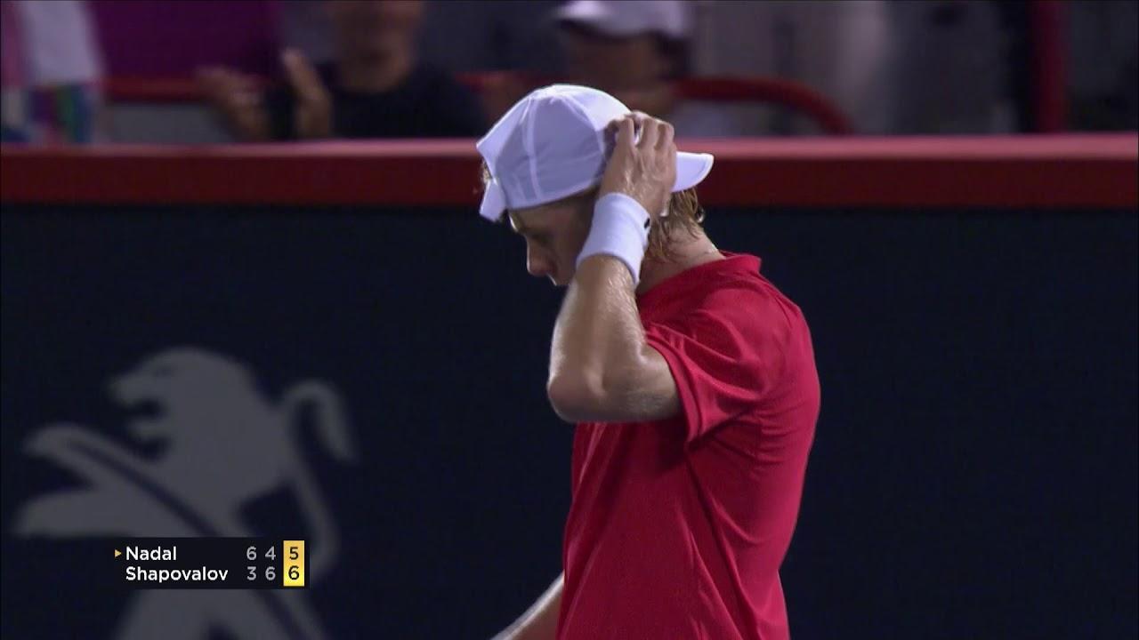 Denis Shapovalov Stuns Rafael Nadal In Montreal Youtube