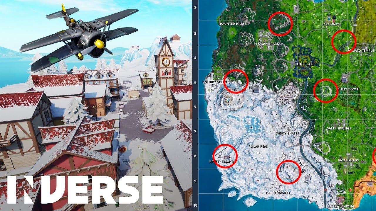 Fortnite Season 7 Where To Find X 4 Stormwing Plane Locations