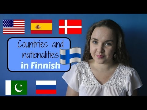 Finnish lesson 7. Countries and nationalities. - Opiskele suomea! Уроки финского языка.