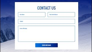 How To Create Contact Us Form In HTML and CSS | Make Contact Us Form Design
