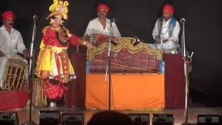 Yakshagana - Gopal Achari as Arjuna, Raghavendra achari