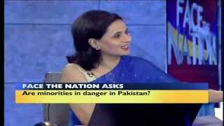 Indian news reporter showing off her stupidity infront of Pakistanis.avi