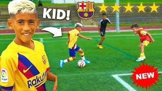 I Challenged 9 YEAR OLD KID MESSI's Football Team To A CRAZY Football Competition!