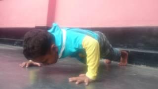 Funny Baby push ups at home