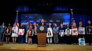 Trump brings out American families who lost loved ones to illegal immigrants
