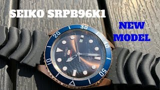 Seiko SRPB96K1 Rose Gold Chocolate Automatic Dive Watch