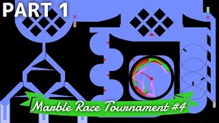 Marble Race Tournament #4: 12 Teams - Part 1/3 (Groups) | Bouncy Marble
