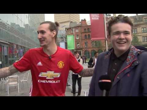 Zlatan  Ibrahimovic  takes to Manchester streets