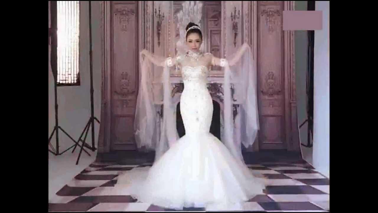 designer white swarovski crystal mermaid wedding bridal