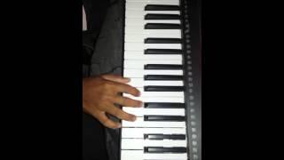 Karlyache dongravar panyacha vahtoy jhara-Marathi koligeet song on keyboard.