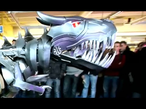 Awesome real life transformer costume (Grimlock) - Ultimate culmination (episode 5/5) by Grovestream