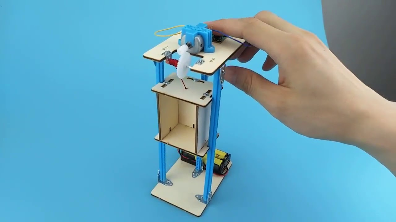 Electric elevator kids craft science DIY Stem Kits