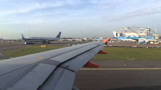 airbus a319 111 easyjet window view takeoff from amsterdam