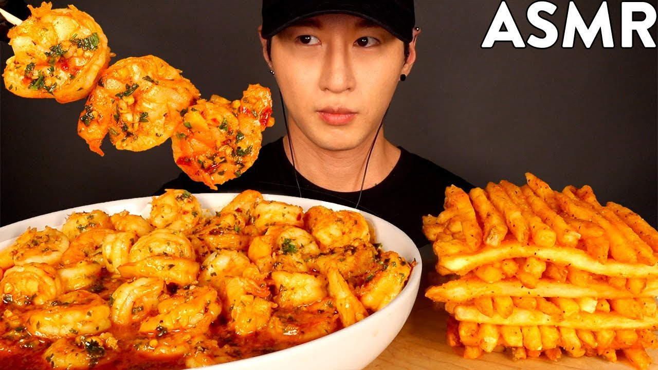 Download ASMR GARLIC SHRIMP & CAJUN FRIES MUKBANG (No Talking) EATING & COOKING SOUNDS   Zach Choi ASMR