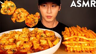 ASMR GARLIC SHRIMP & CAJUN FRIES MUKBANG (No Talking) EATING & COOKING SOUNDS | Zach Choi ASMR