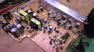 Experimenting with cheap 5.1 DVD home theatre amp circuit