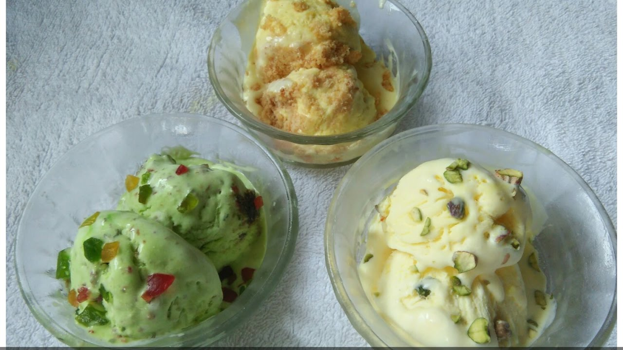 how to make kesar pista ice cream at home