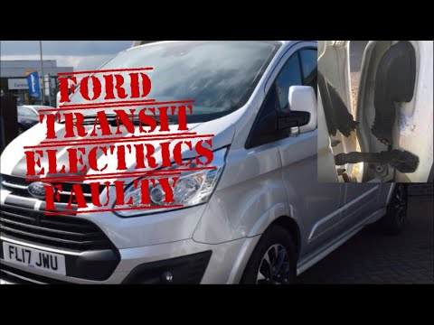 FORD TRANSIT FAULTY ELECTRICS, Wont Open, Alarm probems, Electric Windows Stuck Door Loom Cut