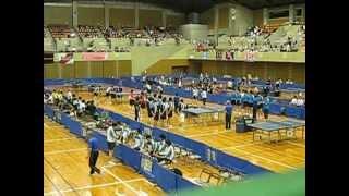 全日本卓球実業団選手権 長崎県立総合体育館