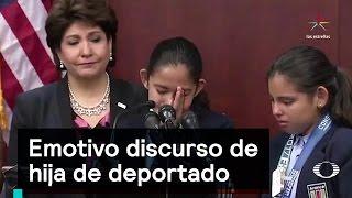 Emotivo discurso de hija de deportado - Migrantes - Denise Maerker 10 en punto thumbnail