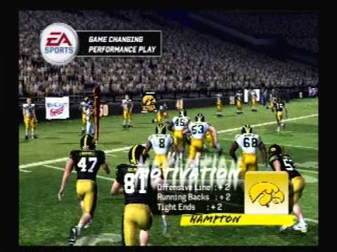 Let's Play NCAA Football 10 ps2 Iowa vs Michigan