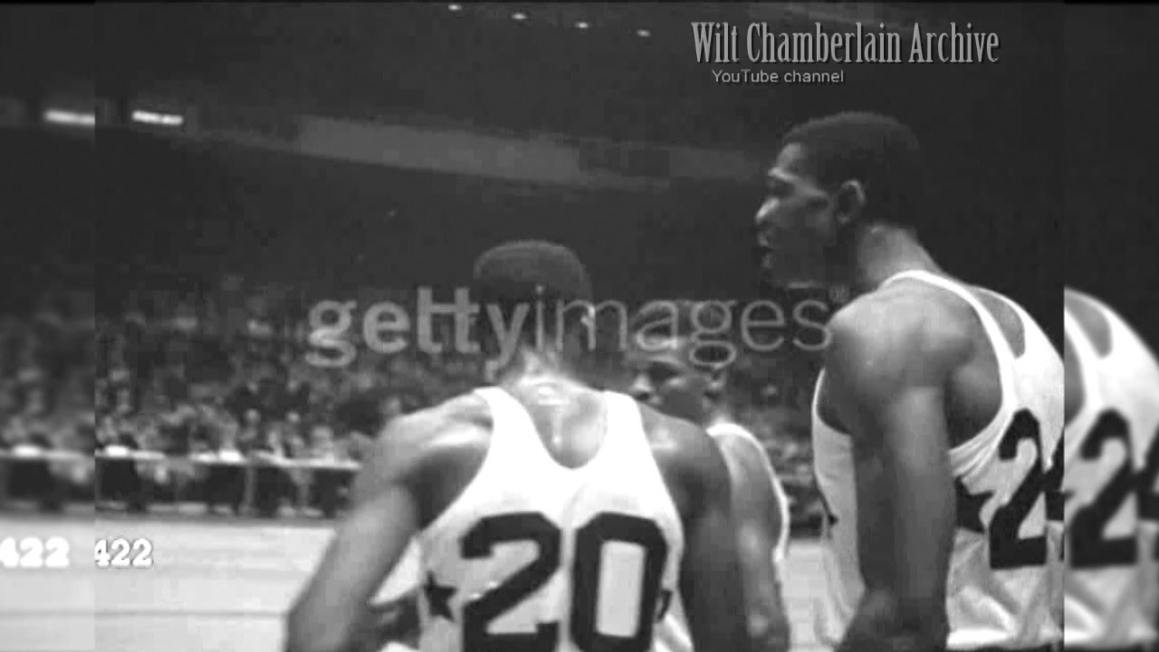 Bill Russell and the 1956 College All Stars at Madison Square