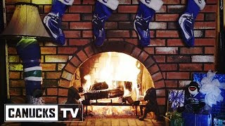 Vancouver Canucks 2014 Holiday Fireplace