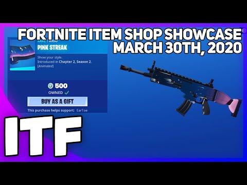 Fortnite Item Shop *NEW* PINK STREAK WRAP! [March 30th, 2020] (Fortnite Battle Royale)