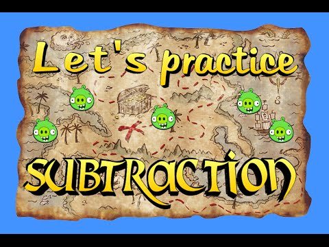 Angry Birds Practice Subtraction