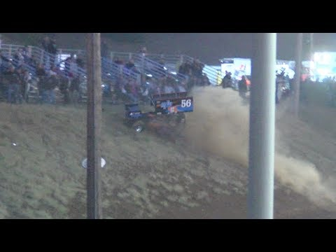 No place is safe from an out of control sprintcar!