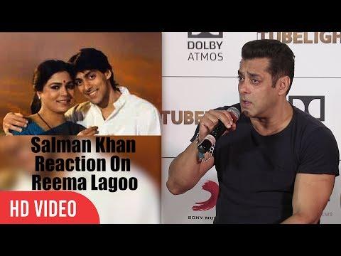 Salman Khan Reaction On Reema Lagoo's Death | Tubelight Official Trailer Launch