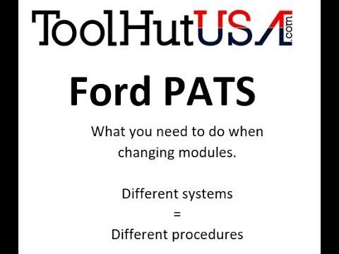 Ford PATS after a module has been replaced