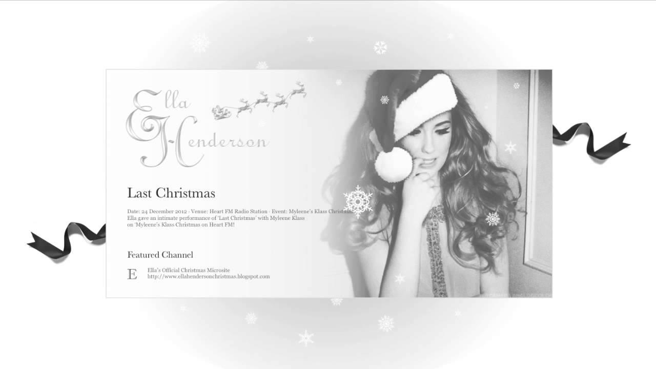 Ella Henderson | Last Christmas - YouTube
