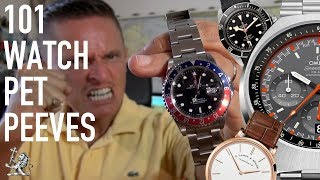 Pure Ghastly! - Your 101 Watch Pet Peeves - From Patek, Seiko, Rolex, & Everything In Between