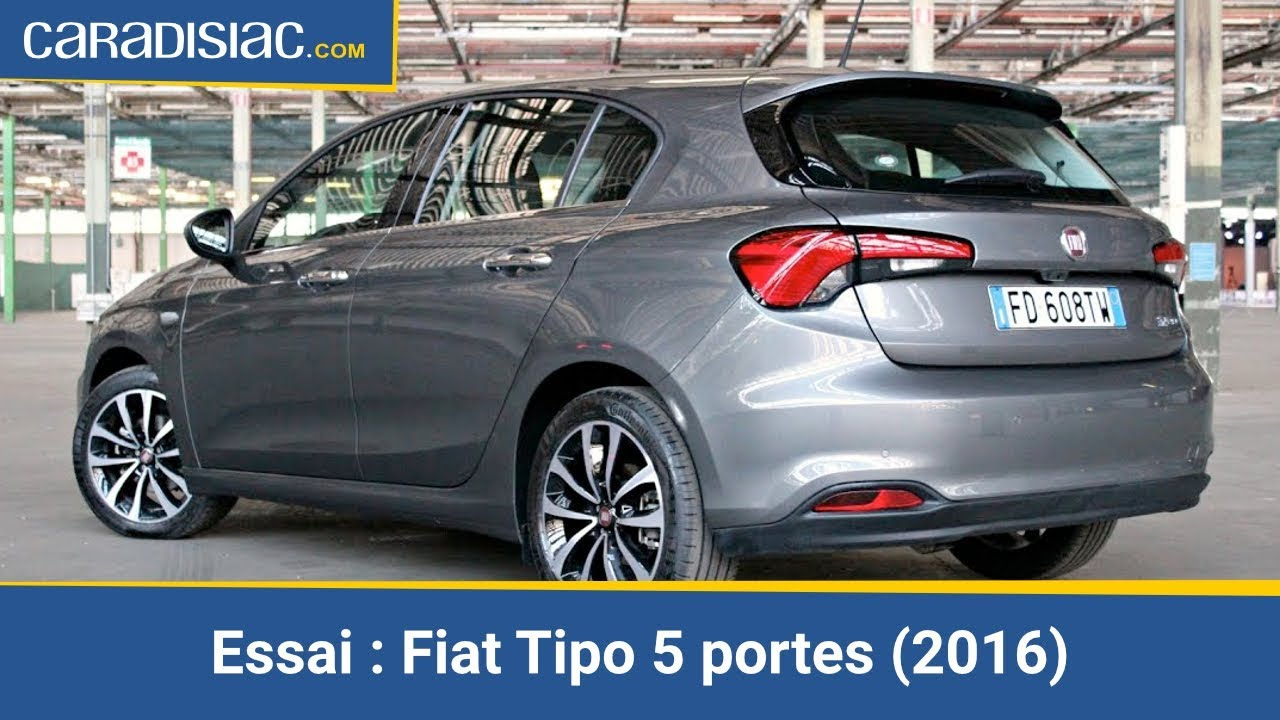 essai fiat tipo 5 portes 2016 succ s en vue youtube. Black Bedroom Furniture Sets. Home Design Ideas
