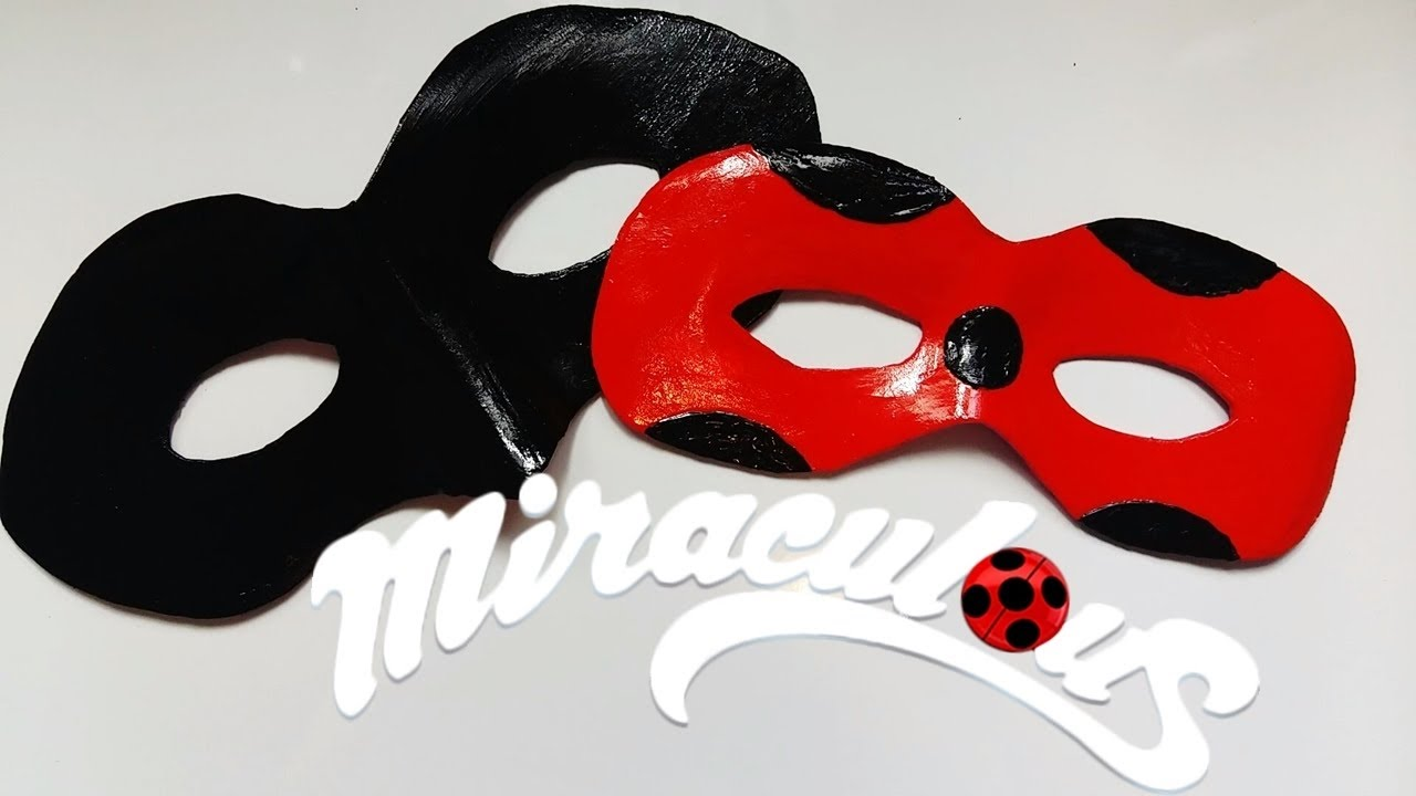 Mascara Ladybug And Chat Noir L Tutorial Cosplay Miraculous