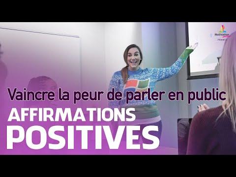 Affirmations positives pour VAINCRE LA PEUR DE PARLER EN PUBLIC   Motivation Online