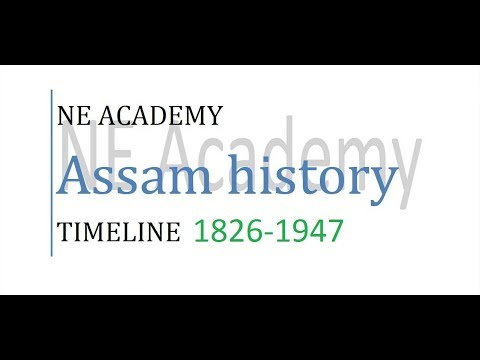 Important timeline of Colonial period of Assam